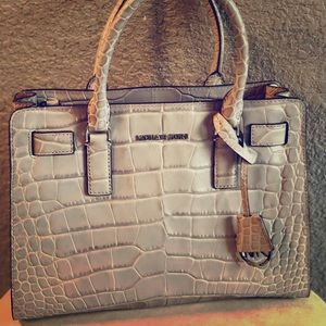 Michael Kors Leather Satchel Handbag